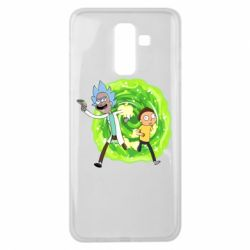 Чохол для Samsung J8 2018 Rick and Morty art
