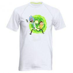 Чоловіча спортивна футболка Rick and Morty art