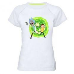Жіноча спортивна футболка Rick and Morty art