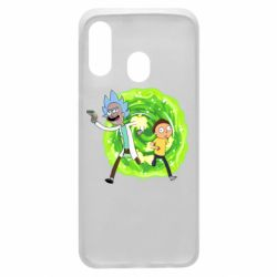 Чохол для Samsung A40 Rick and Morty art