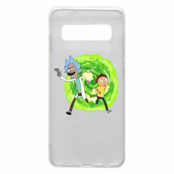 Чохол для Samsung S10 Rick and Morty art