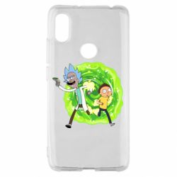 Чохол для Xiaomi Redmi S2 Rick and Morty art