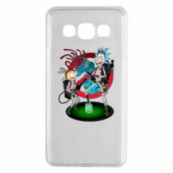 Чохол для Samsung A3 2015 Rick and Morty as Ghostbusters