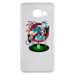 Чохол для Samsung A3 2016 Rick and Morty as Ghostbusters