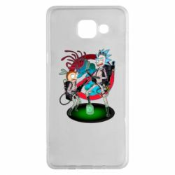 Чохол для Samsung A5 2016 Rick and Morty as Ghostbusters