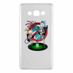 Чохол для Samsung A7 2015 Rick and Morty as Ghostbusters