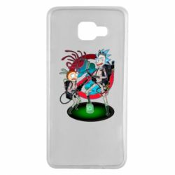 Чохол для Samsung A7 2016 Rick and Morty as Ghostbusters