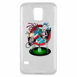 Чохол для Samsung S5 Rick and Morty as Ghostbusters