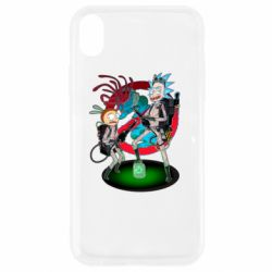 Чохол для iPhone XR Rick and Morty as Ghostbusters