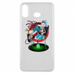 Чохол для Samsung A6s Rick and Morty as Ghostbusters