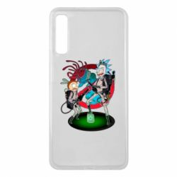 Чохол для Samsung A7 2018 Rick and Morty as Ghostbusters