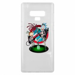 Чохол для Samsung Note 9 Rick and Morty as Ghostbusters