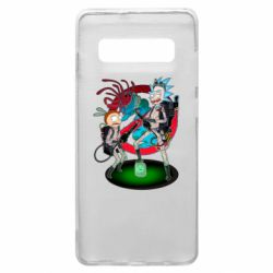 Чохол для Samsung S10+ Rick and Morty as Ghostbusters