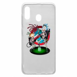 Чохол для Samsung A20 Rick and Morty as Ghostbusters