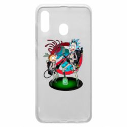Чохол для Samsung A30 Rick and Morty as Ghostbusters