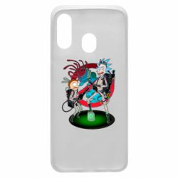 Чохол для Samsung A40 Rick and Morty as Ghostbusters