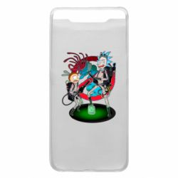 Чохол для Samsung A80 Rick and Morty as Ghostbusters