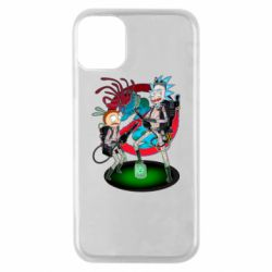 Чохол для iPhone 11 Pro Rick and Morty as Ghostbusters