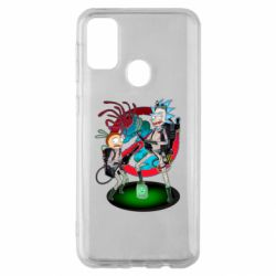 Чохол для Samsung M30s Rick and Morty as Ghostbusters