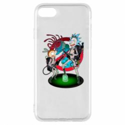 Чохол для iPhone 7 Rick and Morty as Ghostbusters