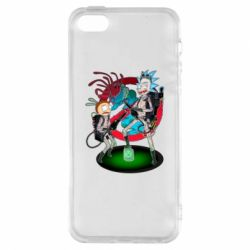 Чохол для iphone 5/5S/SE Rick and Morty as Ghostbusters
