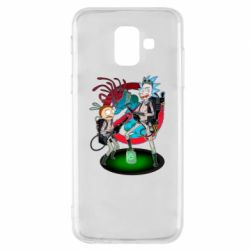 Чохол для Samsung A6 2018 Rick and Morty as Ghostbusters