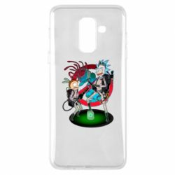 Чохол для Samsung A6+ 2018 Rick and Morty as Ghostbusters