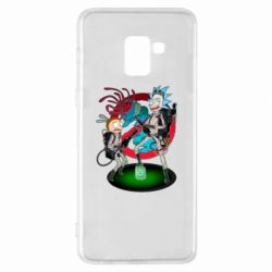 Чохол для Samsung A8+ 2018 Rick and Morty as Ghostbusters