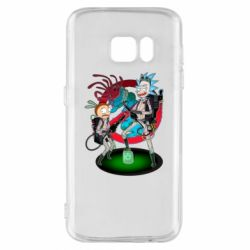 Чохол для Samsung S7 Rick and Morty as Ghostbusters