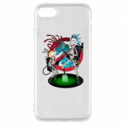 Чохол для iPhone 8 Rick and Morty as Ghostbusters