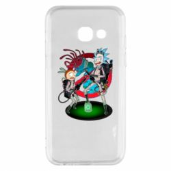 Чохол для Samsung A3 2017 Rick and Morty as Ghostbusters