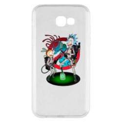 Чохол для Samsung A7 2017 Rick and Morty as Ghostbusters