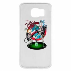 Чохол для Samsung S6 Rick and Morty as Ghostbusters
