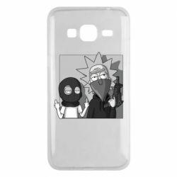 Чехол для Samsung J3 2016 Rick and Morty Bandits
