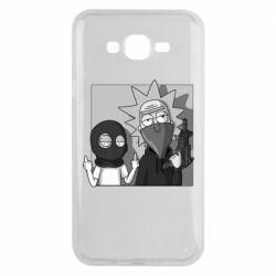 Чехол для Samsung J7 2015 Rick and Morty Bandits