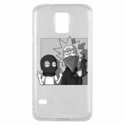 Чехол для Samsung S5 Rick and Morty Bandits