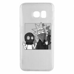 Чехол для Samsung S6 EDGE Rick and Morty Bandits
