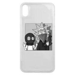 Чехол для iPhone Xs Max Rick and Morty Bandits