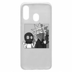 Чехол для Samsung A40 Rick and Morty Bandits