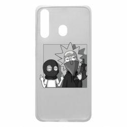 Чехол для Samsung A60 Rick and Morty Bandits