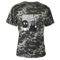 Камуфляжная футболка Rick and Morty Bandits