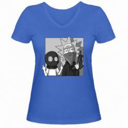 Женская футболка с V-образным вырезом Rick and Morty Bandits