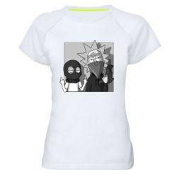 Женская спортивная футболка Rick and Morty Bandits