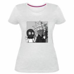 Женская стрейчевая футболка Rick and Morty Bandits
