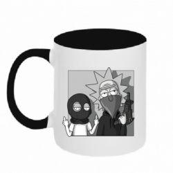 Кружка двухцветная 320ml Rick and Morty Bandits