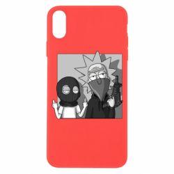 Чехол для iPhone X/Xs Rick and Morty Bandits