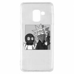 Чехол для Samsung A8 2018 Rick and Morty Bandits