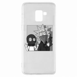 Чехол для Samsung A8+ 2018 Rick and Morty Bandits