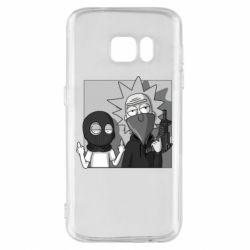 Чехол для Samsung S7 Rick and Morty Bandits