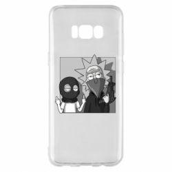 Чехол для Samsung S8+ Rick and Morty Bandits
